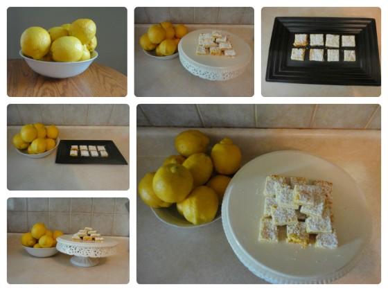 collage of lemon squares