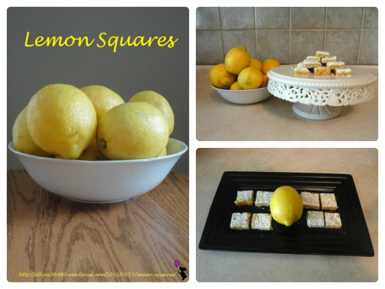 lemon squares collage with website copy and logo