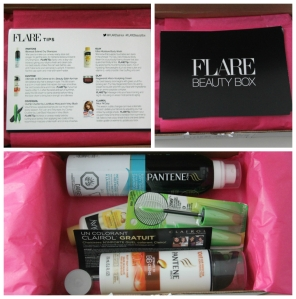 flare beauty box collage